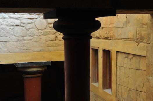 Το εσωτερικό του ανακτόρου της Κνωσού